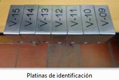 Platinas de Identificacion