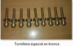 Tornilleria Especial en Bronce