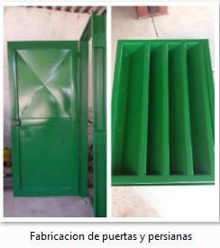Fabricacion de puertas y persianas